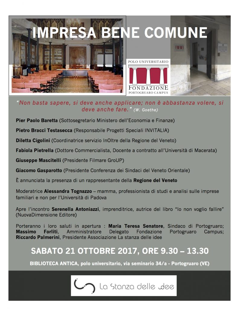 Convegno impresa bene comune studio commercialista for Scadenzario fiscale 2017